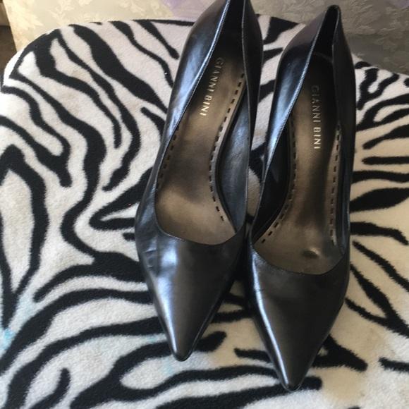 Gianni Bini Shoes - Gianni Bini black leather stilettos.  8 1/2 M